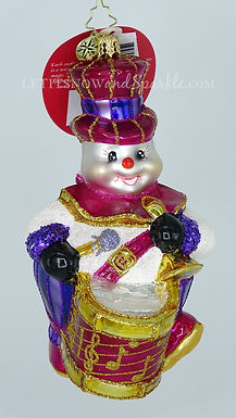 Christopher Radko One Man Band Snowman 1019455 Unique Christmas Ornament
