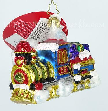 Christopher Radko Midnight Express Train Little Gem 1019181 Christmas Ornament