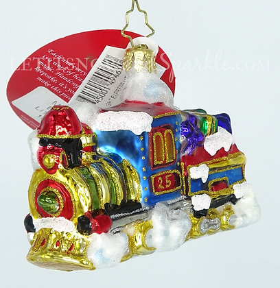 Christopher Radko Midnight Express Train Little Gem 1019181 Christmas Ornament