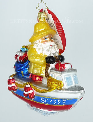 Christopher Radko We're Gonna Need A Bigger Boat 1019828 Christmas Ornament