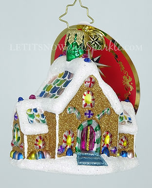 Christopher Radko Gingerbread Dream Home Gem 1020136 Unique Christmas Ornament