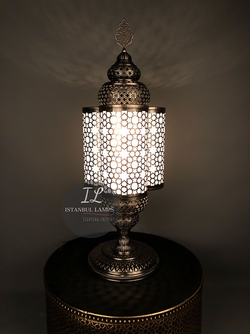 Bronze Ottoman - Middle Eastern Table Lamp
