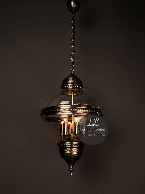 Authentic Ottoman Bronze Pendant Lamp