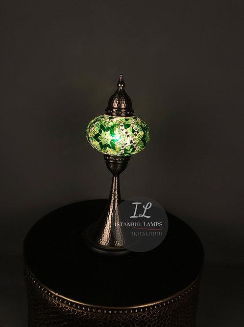 Mosaic Nickel Plated Table Lamp Oriental Large