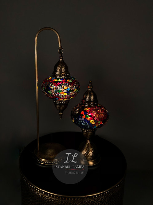 Multi Color Mosaic Table Lamps Combination