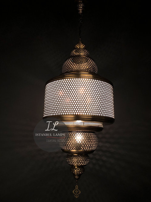 Ottoman Brass Pendant Lamp Plexiglass Large