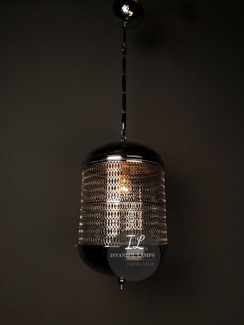 Modern Nickel-Plated Turkish Pendant Lamp