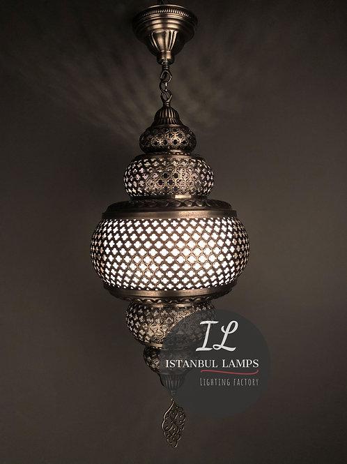 Ottoman Brass Pendant Lamp Plexiglass Medium