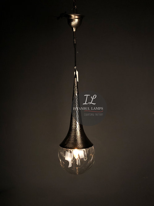 Contemporary Pirex Glass Turkish Pendant Lamp