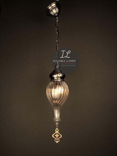 Classic Ottoman Pendant Lamp With Hyacinth Motif