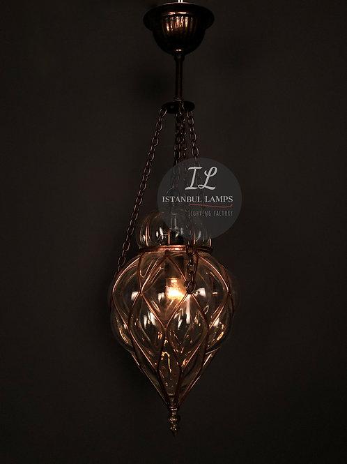 Elegant Ottoman Copper Pendant Lamp