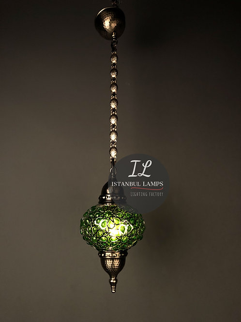 Glassblowing Colored Glass Ottoman Pendant Lamp
