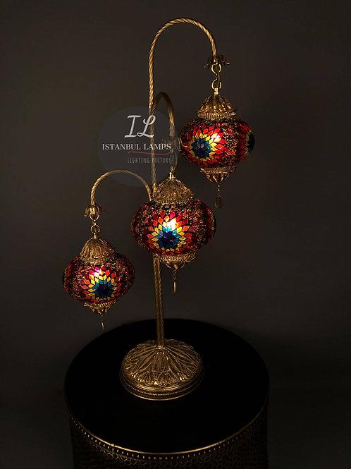 3 Piece Filigree Mosaic Turkish Floor Lamp
