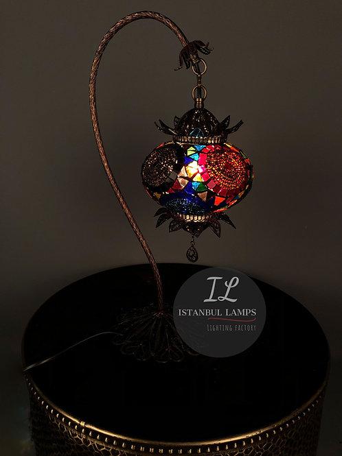 Oriental Filigree Mosaic Turkish Hanging Table Lamp