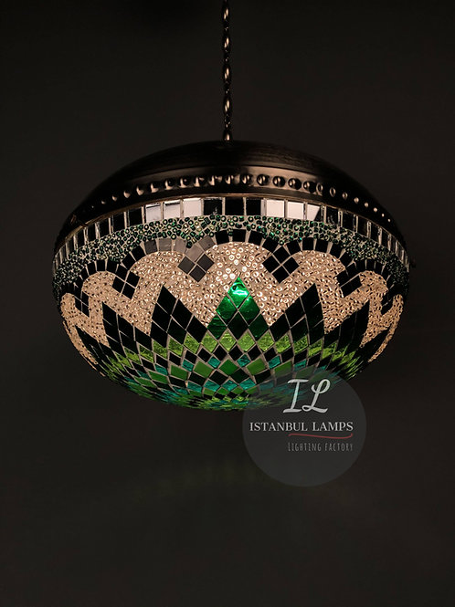 Modern Turkish Mosaic Brass Pendant Lamp