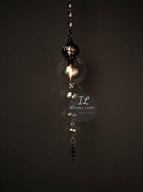 Modern Ottoman Bronze Nickel-Plated Pendant Lamp