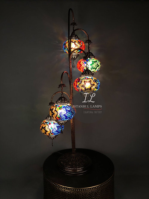5 Piece Filigree Mosaic Turkish Floor Lamp