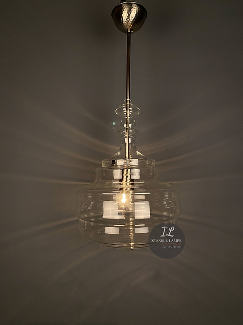 Modern Clear Glass Pendant Lamp
