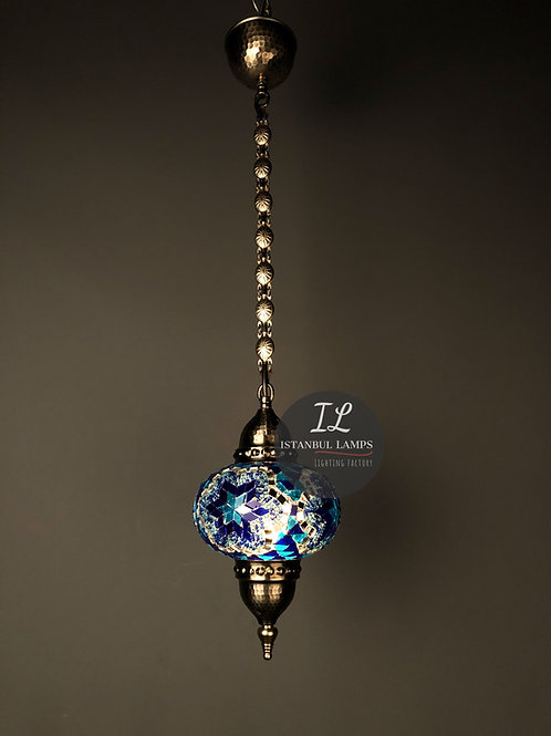 Mosaic Nickel-Plated Bronze Turkish Pendant Lamp