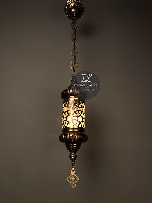 Ottoman Bronze Pendant Lamp Glassblowing Small