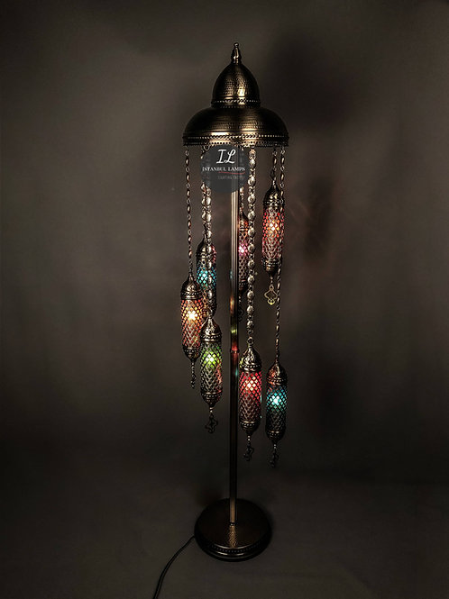 7 Piece Anatolian Cylinder Cascade Floor Lamp