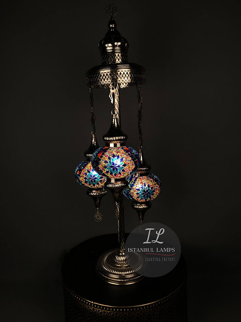 3 Piece Classic Turkish Mosaic Floor Lamp