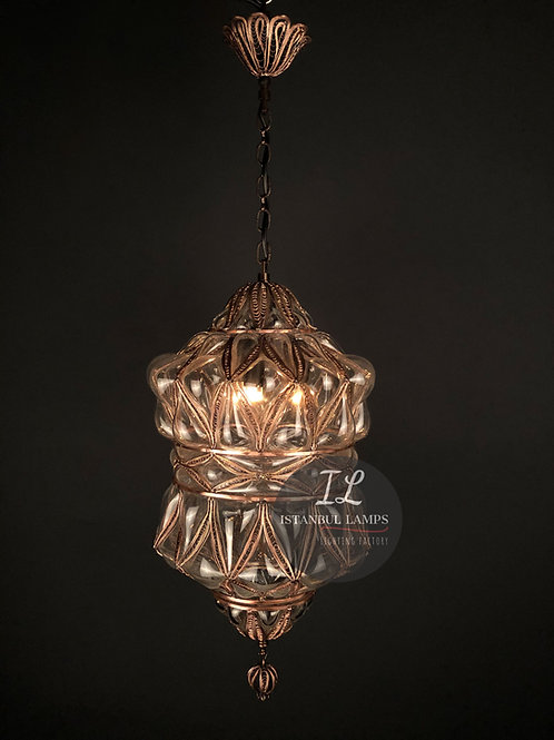 Ottoman Filigree Pendant Lamp Glassblowing