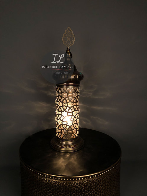 Ottoman Cylinder Table Lamp Oriental Large