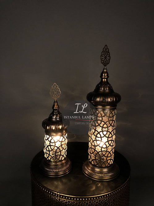Ottoman Cylinder Table Lamps Combination
