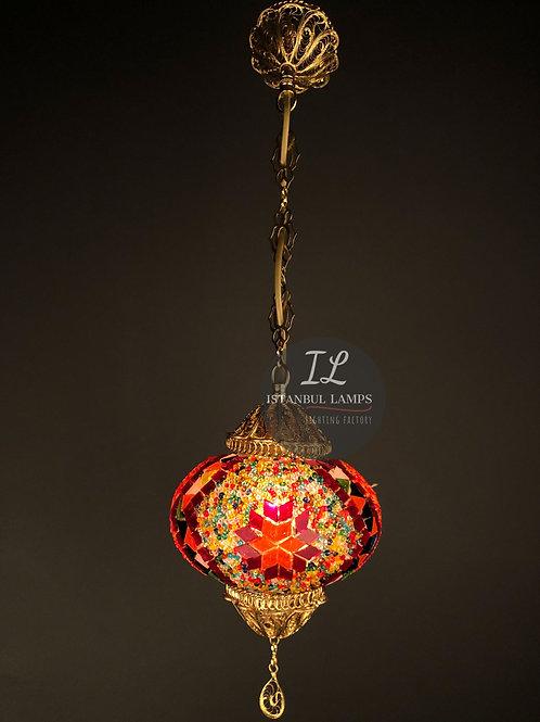 Turkish Filigree Copper Mosaic Pendant Lamp