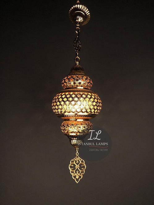 Ottoman Brass Pendant Lamp Plexiglass Small