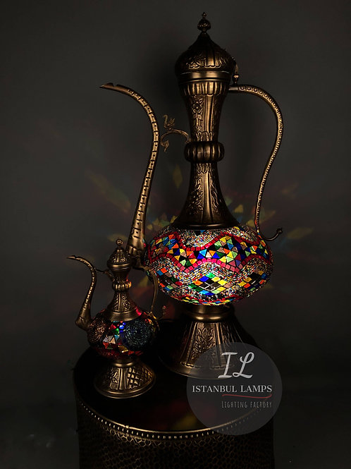 Oriental Bronze Turkish Kettle Floor Lamps Special Offer