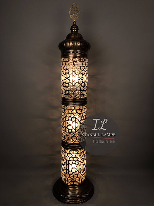 Ottoman Floor Lamp Oriental Glassblowing Large