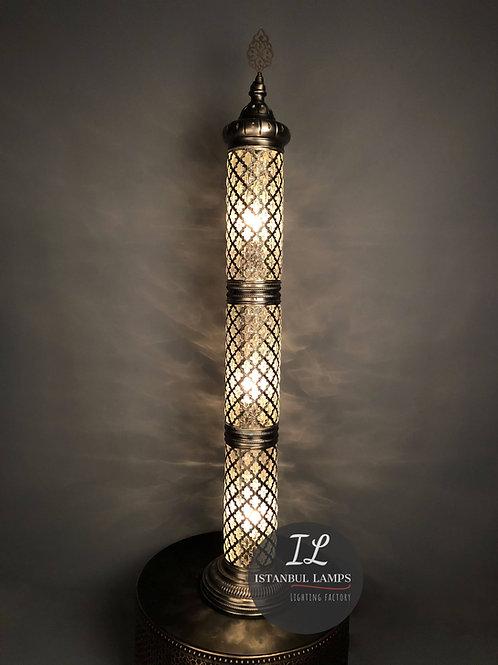 Brass Ottoman Floor Lamp Oriental Glassblowing