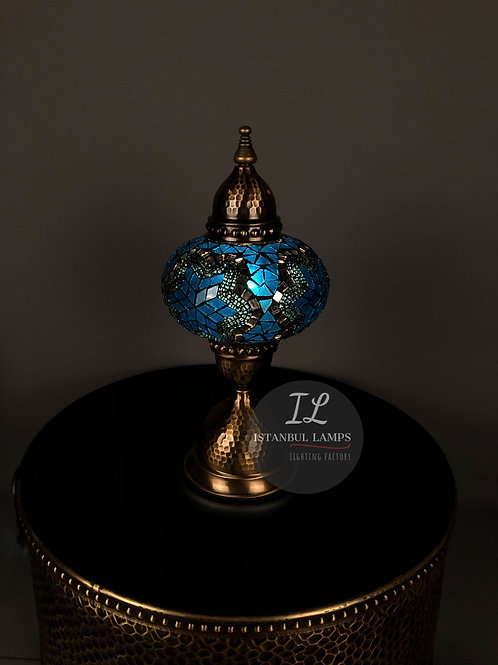 Mosaic Bronze Nickel-Plated Table Lamp Oriental Medium