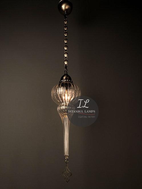 Ottoman Bronze Pendant Glassblowing Refashioned