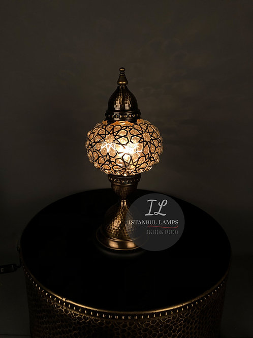 Oriental Bronze Nickel-Plated Table Lamp Glassblowing Medium