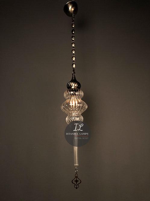 3 Layer Ottoman Refashioned Bronze Pendant Lamp