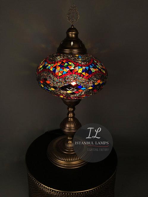 Brass Mosaic Turkish Table Lamp Oriental Large