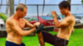 Hawaii Beach Martial Arts and Self defense classes outdoors