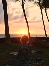 Sunset Meditation Halo
