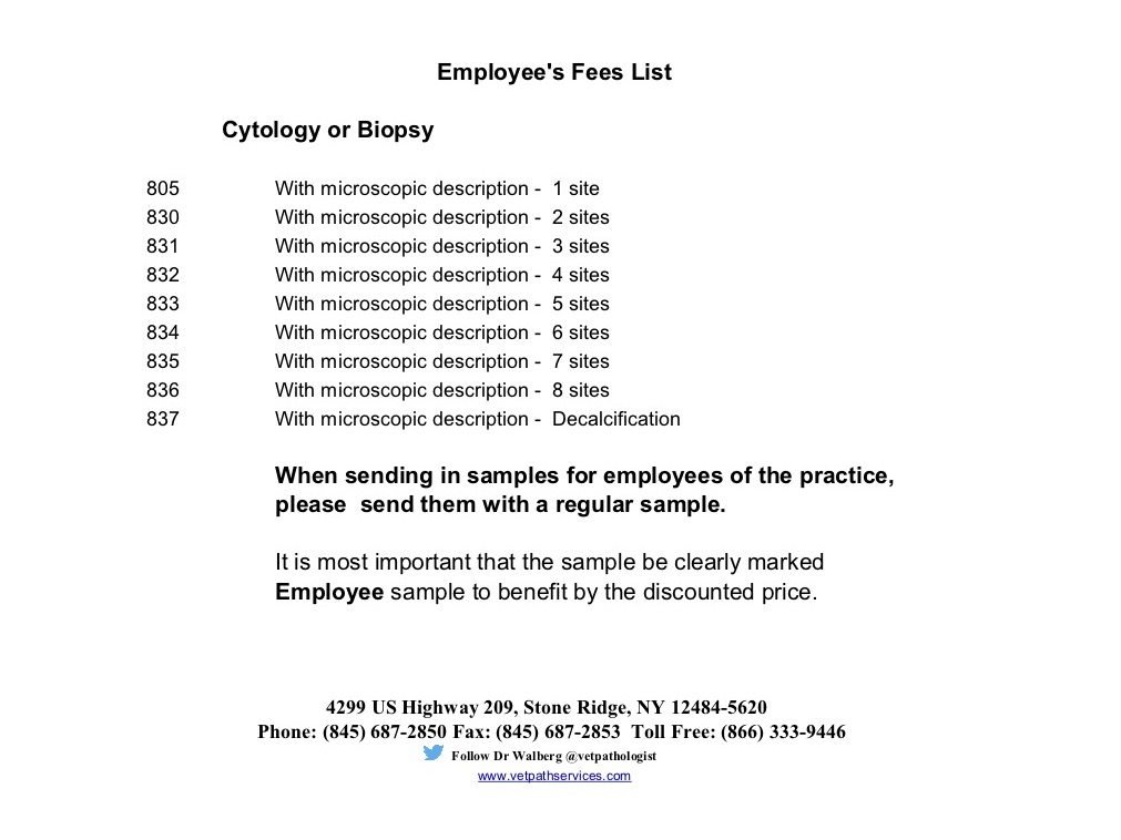 Fee List 3 - Employee - 2019 blank