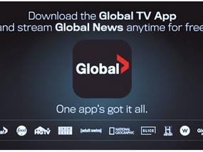 GLOBAL NEWS ADDS FREE OKANAGAN, LETHBRIDGE, PETERBOROUGH AND KINGSTON NEWS STREAMS TO GLOBAL TV APP
