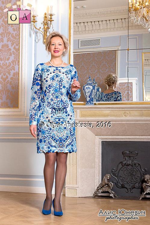 dress Gzhel for Irina
