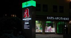 LED-Beleuchtung-Effektbeleuchtung Rats Apotheke Messkirch - Kopie
