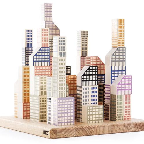 Manhattan 54 Blocchi in legno BAJO