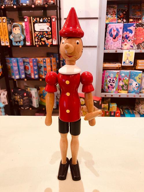 Pinocchio In Legno cm. 31