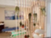 photo du cabinet d'ostéopathie, mur végétal, design,