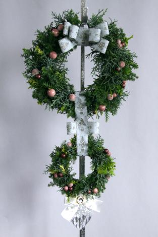 2013年12月の生徒作品 クリスマスのドア飾り