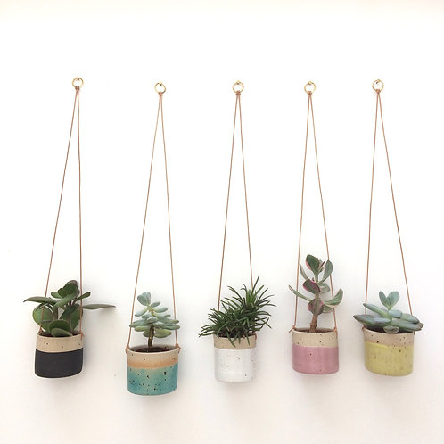 Stoneware hanging planter - small